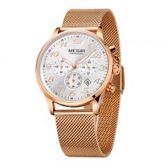 MEGIR 2018 Men Wrist Watch Gold Masculino Luxury Chronograph Quartz Army Military Watches Clock type 1