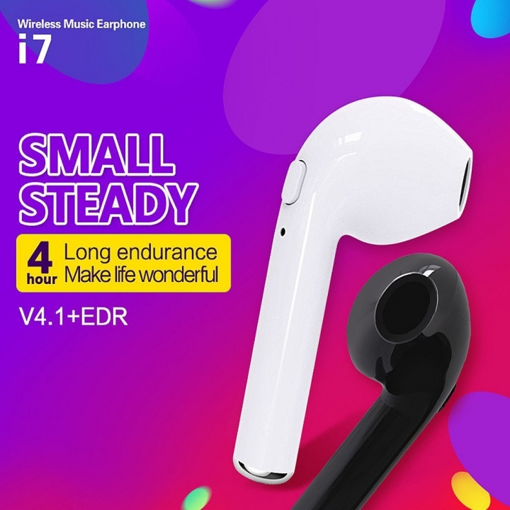 Mini universal bluetooth earphones headset android wireless samsung headphones microphones iphone White