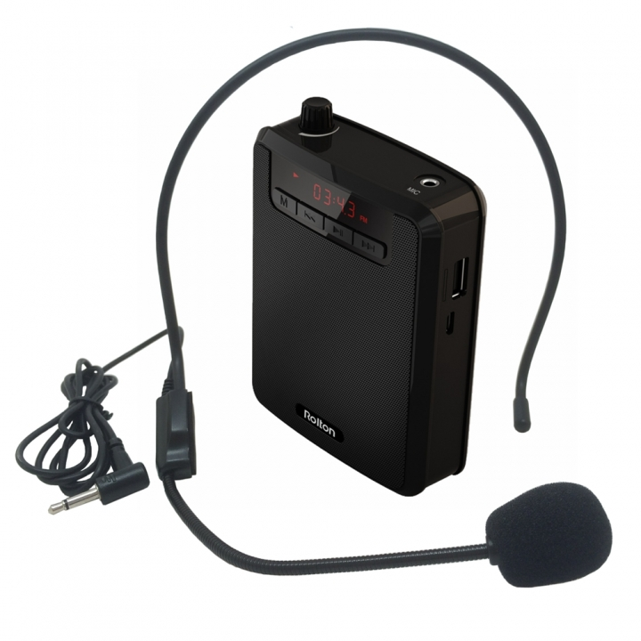 Mini Portable speaker With Microphone Voice Amplifier Booster Megaphone Speaker FM TF For Tour Guide