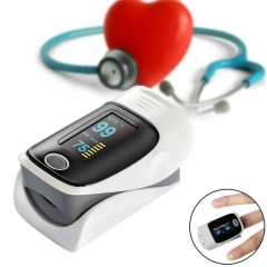 Finger Pulse Oximeter PortableInstant Read Digital Display Fingertip Oxygen Sensor with Alarm SPO2