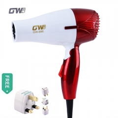 Mini 1200W Hair Dryer Foldable Portable Traveller Compact Blower With Thermostatic Function Red 1200W