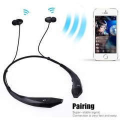 Bluetooth 4.0 Around-the-neck Wireless Stereo Headset Headphone Earphone black