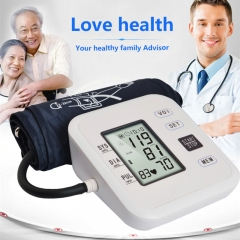 Family health Care Electronic Blood Pressure LCD screen WHO blood pressure monitor white one size
