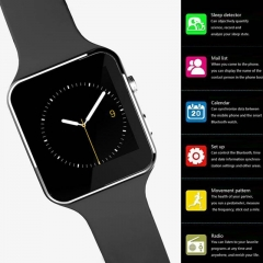 New Bluetooth Smart Watch Smartwatch sport watch For Phone With Camera FM Support SIM Card black one size