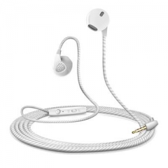 Colorfu Audio Sport-Fi Earphones Noise Isolating In-Ear candy DJ earbuds Wire Headset with mic white
