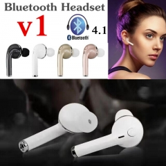 Tecno Infinix Samsung Mini Wireless Stereo Bluetooth Headset Earphone Handsfree With Mic Headphones rose gold