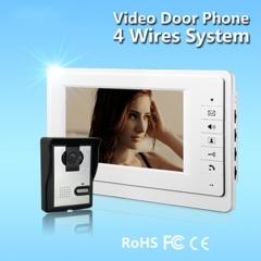 Video Door Phone Video Intercom Doorbell LED 7 inch TFT Color LCD Display Night Vision Camera 1v1