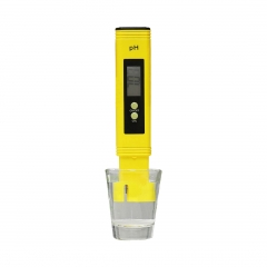 Digital LCD PH Meter Pen of Tester Accuracy 0.1 Aquarium Pool Water Wine Urine Automatic Calibration Yellow one size