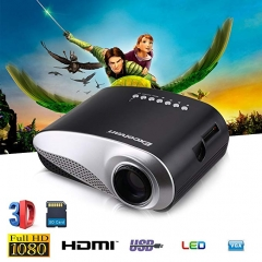 LED Projector Portable Home Theater Video Projector Home Multimedia Cinema TV Laptops Smartphones white no include hdmi cable