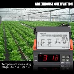 Digital Temperature Controller Thermostat Incubator 12V 24V 220V Thermoregulator Thermostat black 110V-220V