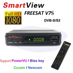 V7S HD DVB-S2 Satellite Receiver 1080P HD Receptor Support Cccam PowerVu YouTube Biss key TV Turner