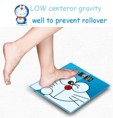 Cute Cartoon Doraemon Smart Bathroom Personal Electronic Scales Household Digital Weight Body Scale Blue One size