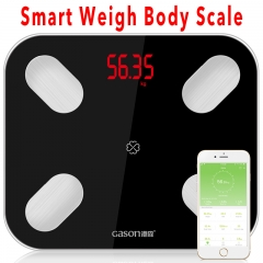 Body Smart Scale Scientific Electronic LED Digital Weight Body Scale Balance APP Android IOS black one size