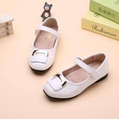 Hot Spring Big Girls Shoes Fashion Princess Slip-on Children Sneaker Leather Shoes For Girls Shoe white uk9