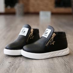 2017  hot fashion Martin australia boots single low short botas kids baby nina boys autumn shoes black uk9
