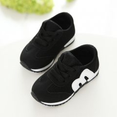children spring autumn girls boys kids mesh sneakers flat baby breathable sport shoes black uk5.5