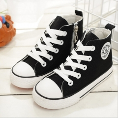 2017 Kids shoes for girl children canvas shoes boys sneakers  Spring autumn girls shoes black uk7.5