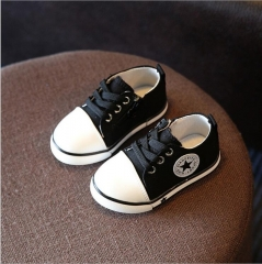 2017 Spring Canvas Children Shoes Girl Breathable Sneaker Shoes Boys&Girls Not Smelly Feet  shoe black uk5.5