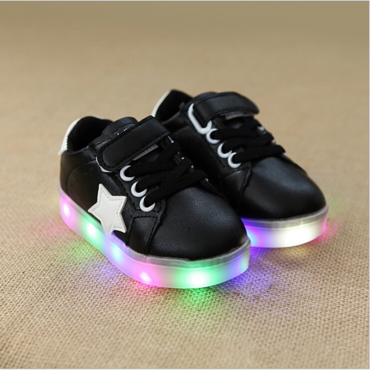2830c06dc 2017 Fashion Children Shoes With Light Baby Boys Girls LED Light Up ...