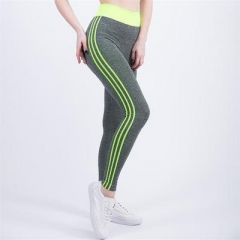 Women Leggings High Waist Elastic Leggings Patchwork Women Pants Femme Sexy Warm Workout Leggings yellow xl