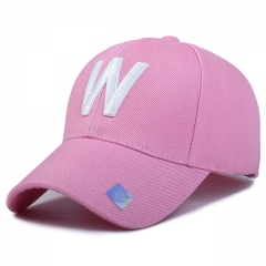 Hot summer baseball cap Ms. sun hat letter autumn leisure hip-hop cap Golf sports men peaked cap pink