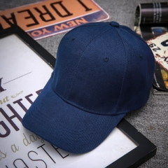 Fashion summer hat peaked cap Ms. sun hat male student leisure pure black baseball cap solid cap dark blue