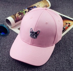 Hot Shipping Puppy Pattern Pure Korean tidal Ms. male hip-hop cap baseball cap flat-brimmed hats pink