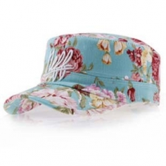 Fashion  watercolor flowers embroidery Ms. madam lady girl women love Baseball cap blue
