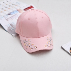 Lady Floral Baseball Caps Plum Blossom Hat Woman Black Pink White Cotton Ms Baseball Hats For Women pink