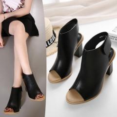 Fashion Woman Summer Gladiator Women Sandals sexy Peep Toe Ankle Strap high heel sandals black uk2.5