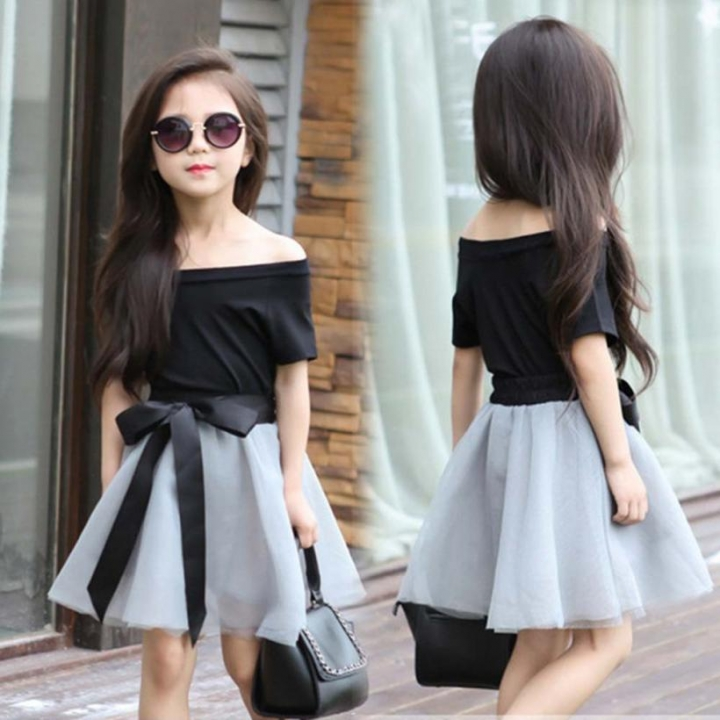 2pc Baby Girls Clothes Summer Tee Short Skirts Kids Girls Casual Outfits Dress