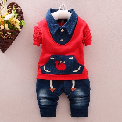 Spring Baby Clothing Sets Children Boys Kids Casual Sport Suits Tracksuits 2pcs Baby Boy Spring Set red 90cm
