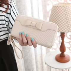 Wallet For Women Wallet Long Lovely Pu Leather For Women Purse Female Coin Card Clutch Big Capacity beige one size