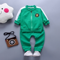 2018 active casual children baby girl clothing baby boy girl clothes coat+pant clothing set green 80cm