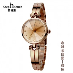 2018 Fashion Jewelry Watch Ladies Gold Waterproof Bracecelet Women Watches Diamond Female Whatch gold