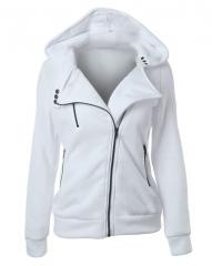 Sweatshirt Autumn Long Sleeve Hooded Sudaderas Mujer Warm Women Tracksuit Harajuku Streetwear white s
