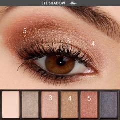 FOCALLURE Eyeshadow Palette Glamorous Smokey Eye Shadow Shimmer Colors Makeup Kit by Focallure #06