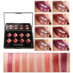 Gloss Set Plate Makeup Waterproof Lipstick Sets Matte Long Lasting Nude Lip GlossTint Palette #03