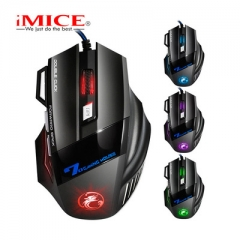 imice USB Gaming Mouse 7 Button 5500DPI LED Optical Wired Cable Computer Mouses Gamer Mice black wired