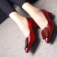 2018 Fashion high heels women pumps thin heel classic white red nede beige sexy prom wedding shoes red 34