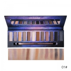 UCANBE Brand Starry Sky Eyeshadow Palette Nude Makeup Pigment Matte Shimmer Shine Smoky Eye Shadow #01