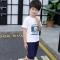 2018 Summer Baby Boys Girls Clothing Set Casual Cotton Costumes Short Sleeve + Shorts Baby Boy Suit white 120cm