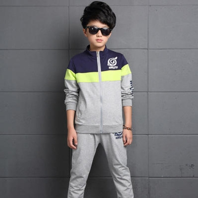 Baby Boy Clothes Cotton Boys Sport Suits Casual Tracksuit Children-clothing Kids 2Pcs Sport Suits grey 120cm