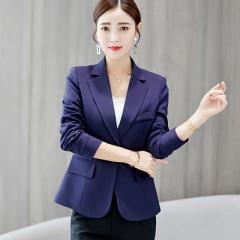 2018 New Long-sleeved Slim Women Blazers And Jackets Small Women Suit Korean Version Ladies Blazer navy s