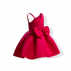 Girl Clothes Formal Dress Carnival Dress Wedding Dress Children Clothes chinese red 100#