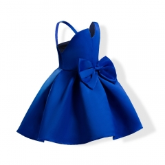 Girl Clothes Formal Dress Carnival Dress Wedding Dress Children Clothes diamond blue 120#