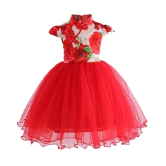 Children clothes baby clothes girl dress formal dress wedding dress Christmas dress New Year Dress pink 100#