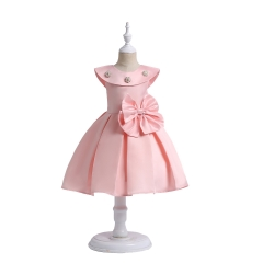 Clothes children clothes for girl dresses children dresses for parties for New Year for Christmas pink 100#