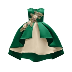 New Year Girl Dress Christmas Dress Party Dress Children Clothes green 100#