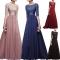 big sizes women dress women clothes fashion dress lady dress vintage red xl